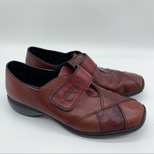 RIEKER patchwork leather Velcro loafers, 41.